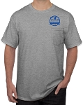 Auction Pocket / Short Sleeve T-Shirt (Sport Gray)