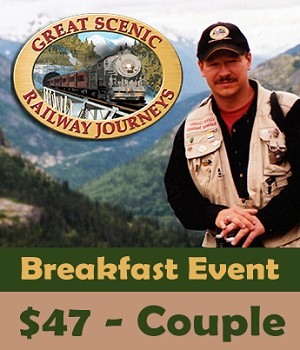 Great Scenic Railway Journeys Breakfast and Interactive - Couple (2) Tickets